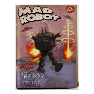 Mad Robot Pulp Cover Poster