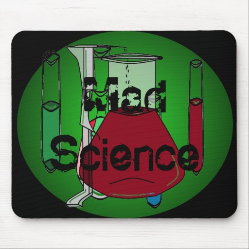 Mad Science Beakers Test Tubes Solutions Mousepads