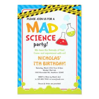 Mad Science Birthday Invitation / Mad Scientist