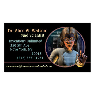 Mad Science! (F) Business Cards