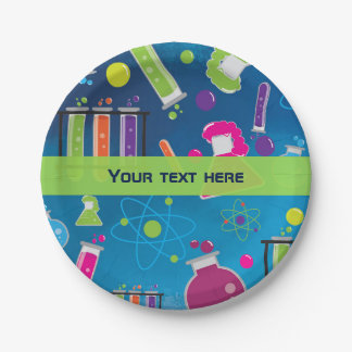 Mad Science Scientist Birthday Party Plates