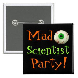 Mad Scientist 15 Cm Square Badge