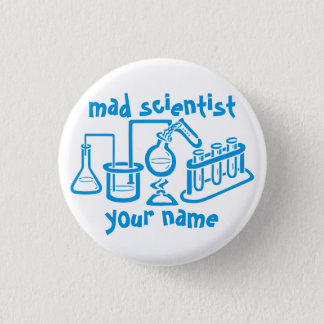 Mad Scientist 3 Cm Round Badge