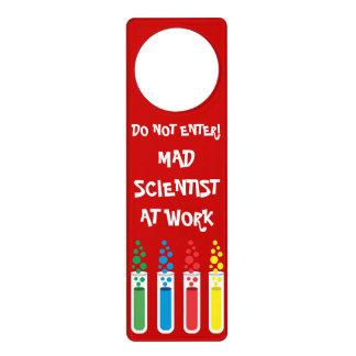 Mad Scientist At Work Door Knob Hangers
