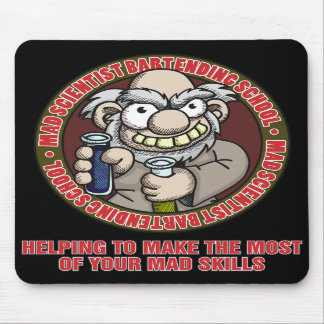 Mad Scientist Bartending School Mousepad