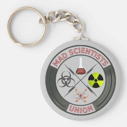 Mad Scientist Basic Round Button Key Ring