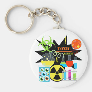 Mad  Scientist Basic Round Button Key Ring