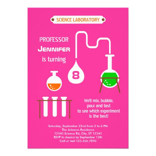 Mad Scientist Birthday Party Invitation