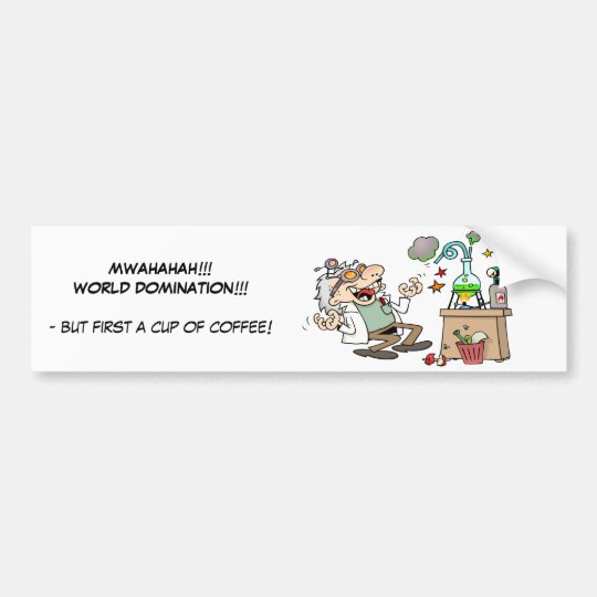 Mad Scientist Bumper Sticker