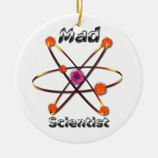 Mad Scientist Christmas Ornament