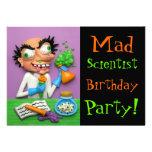 Mad Scientist Custom Invite