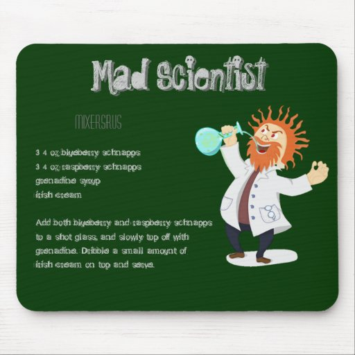 Mad Scientist Drink Recipe Mousepad