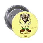 Mad scientist funny button design