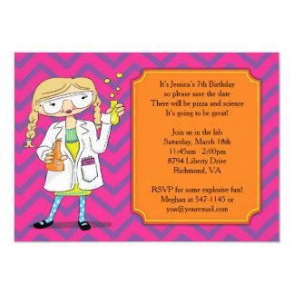 Mad Scientist Invitation : Blonde Girl