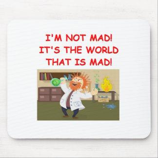 mad scientist joke mousepads
