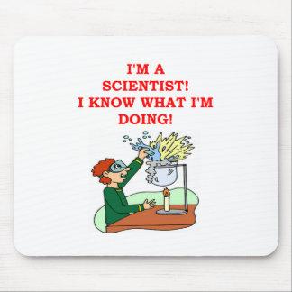 mad scientist joke mouse pad