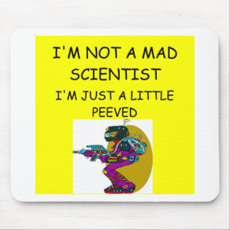 mad scientist mouse mat