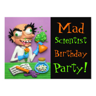 Mad Scientist Party Card