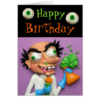 Mad Scientist Party Greeting Card