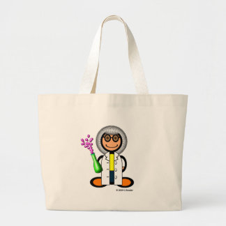 Mad scientist (plain) tote bags