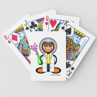 Mad scientist (plain) bicycle playing cards