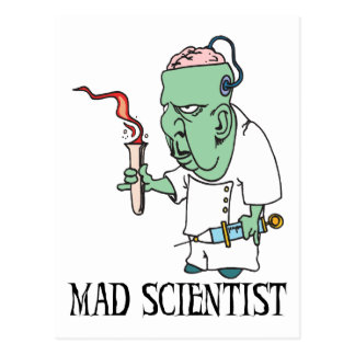 Mad Scientist Postcard