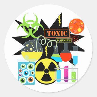Mad  Scientist Round Sticker