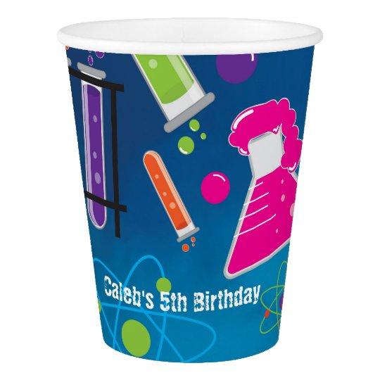 Mad Scientist Science Birthday Party Paper Cups