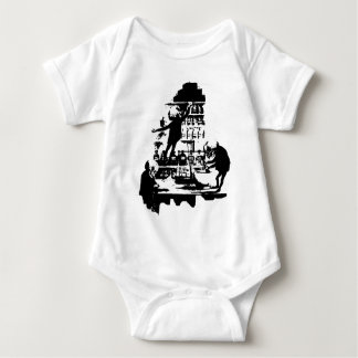 Mad Scientist Skeletons Baby Bodysuit