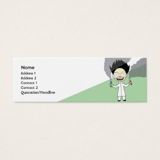 Mad Scientist - Skinny Mini Business Card