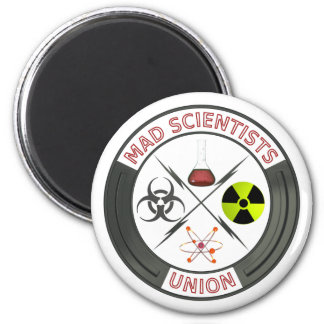 Mad Scientist Union 6 Cm Round Magnet