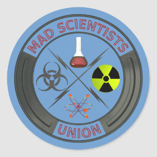 Mad Scientist Union Classic Round Sticker