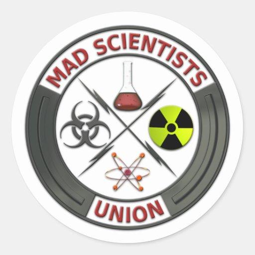 Mad Scientist Union Round Sticker