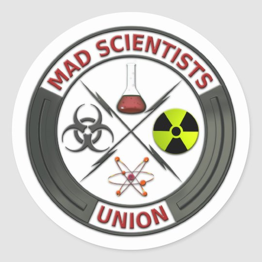 Mad Scientist Union Round Sticker