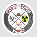 Mad Scientist Union Round Stickers