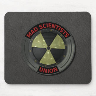Mad Scientist Union with Radioactive Symbol Mouse Pad
