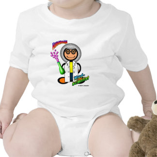 Mad Scientist (with logos) Baby Bodysuit