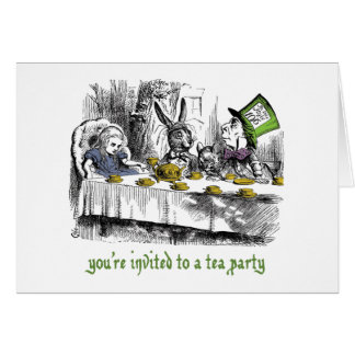 Mad Tea Party Invitations Greeting Card
