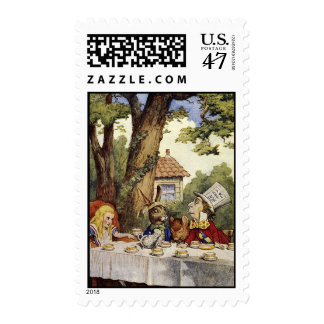 Mad tea party stamp