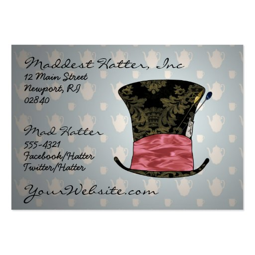 'Mad Victorian' Profile Card Business Card Templates