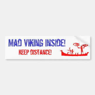 Mad Viking Bumper Sticker