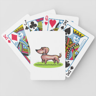 """madaboutdachshunds """"M.A.D"""" Bicycle Playing Cards"""