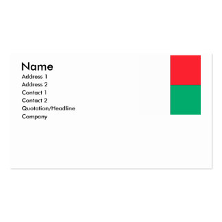 Madagascar Business Card Templates