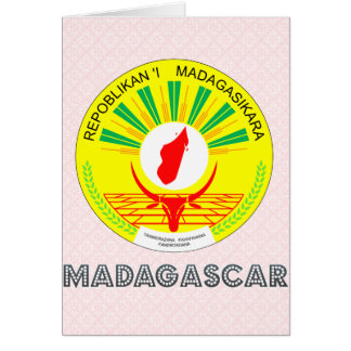Madagascar Coat of Arms Greeting Card