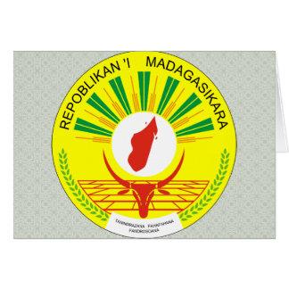 Madagascar Coat of Arms detail Greeting Card
