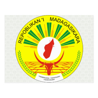 Madagascar Coat of Arms detail Postcard