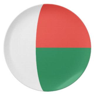 Madagascar Fisheye Flag Plate