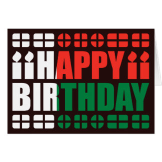 Madagascar Flag Birthday Card