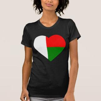 Madagascar Flag Heart T Shirt