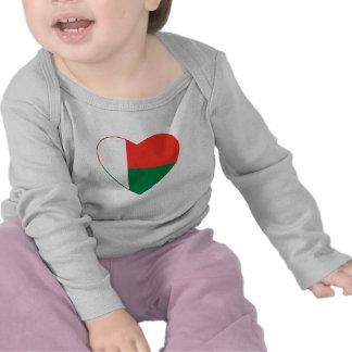 Madagascar Flag Heart T-Shirt